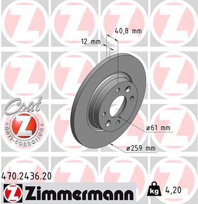 ZIMMERMANN Bremsscheibe 470.2436.20