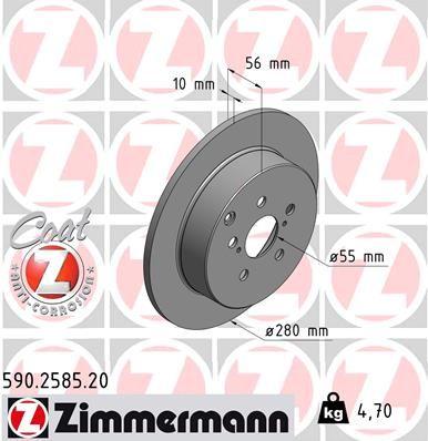 Bremsscheiben ZIMMERMANN 590.2585.20