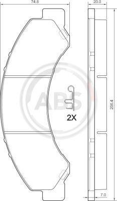 Achetez des Kit de plaquettes de frein, frein à disque A.B.S. 37713 à prix modérés