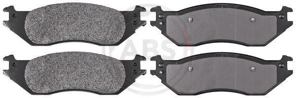 FORD USA E SERIES 2014 Bremsbelagsatz - Original A.B.S. 38443 Höhe 1: 57,3mm, Breite 1: 188,8mm, Dicke/Stärke 1: 16,9mm