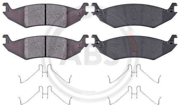 FORD USA E SERIES 2015 Bremsklötze - Original A.B.S. 38444 Höhe 1: 49,2mm, Breite 1: 166,3mm, Dicke/Stärke 1: 16,5mm