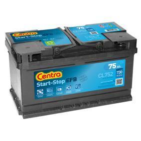 575500073 CENTRA Start-Stop Batterie-Kapazität: 75Ah Kälteprüfstrom EN: 730A, Spannung: 12V, Polanordnung: 0 Starterbatterie CL752 günstig kaufen