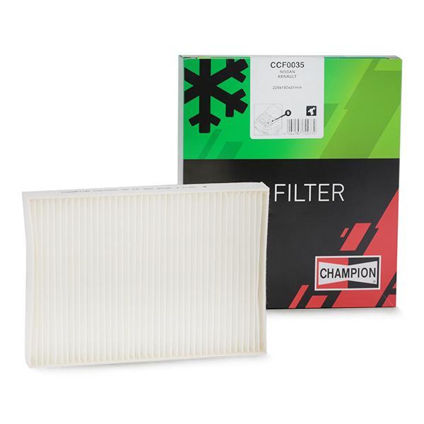 Achetez Filtre climatisation CHAMPION CCF0035 (Largeur: 160mm, Hauteur: 31mm, Longueur: 229mm) à un rapport qualité-prix exceptionnel