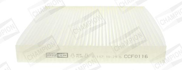 MAZDA CX-7 2008 Fahrzeugklimatisierung - Original CHAMPION CCF0116 Breite: 215mm, Höhe: 25mm, Länge: 194mm