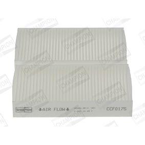 CCF0175 CHAMPION Pollenfilter, Partikelfilter Breite: 93mm, Höhe: 29mm, Länge: 181mm Filter, Innenraumluft CCF0175 günstig kaufen
