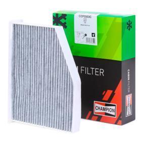 CCF0303C CHAMPION Aktivkohlefilter Breite: 207mm, Höhe: 58mm, Länge: 285mm Filter, Innenraumluft CCF0303C günstig kaufen