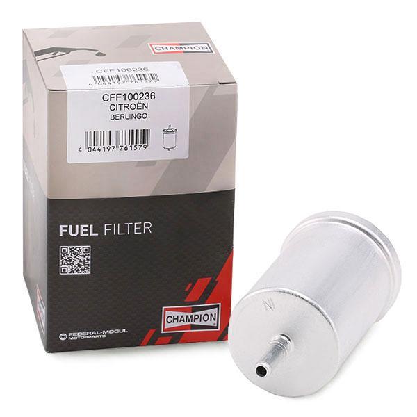 CHAMPION CFF100236 (Hauteur: 140mm) : Filtre à carburant Renault Kangoo kc01 2014