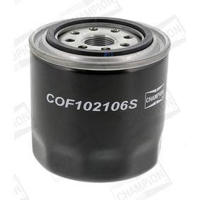COF102106S CHAMPION Anschraubfilter Innendurchmesser: 71,5mm, Ø: 97,0mm, Höhe: 101,0mm Ölfilter COF102106S günstig kaufen