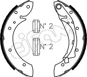 S1032 CIFAM mit Zubehör Breite: 42mm Bremsbackensatz 153-023 günstig kaufen