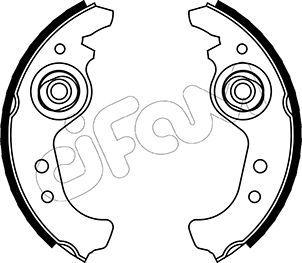 Original FIAT Bremsbackensatz 153-063