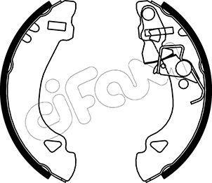 Original FIAT Bremsklötze für Trommelbremse 153-069
