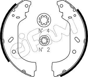 Original FIAT Bremsbackensatz für Trommelbremse 153-074