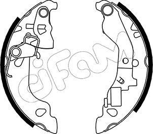 Original FIAT Bremsbacken für Trommelbremse 153-079Y