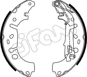 Original FIAT Bremsbeläge für Trommelbremsen 153-093