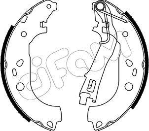 Original FIAT Bremsbackensatz 153-099