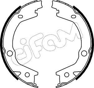 S845 CIFAM Breite: 27mm Bremsbackensatz, Feststellbremse 153-184 günstig kaufen