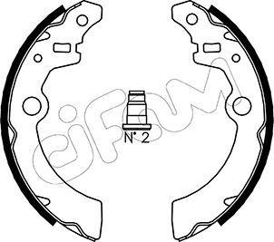 153-404 CIFAM mit Zubehör Breite: 26mm Bremsbackensatz 153-404 günstig kaufen
