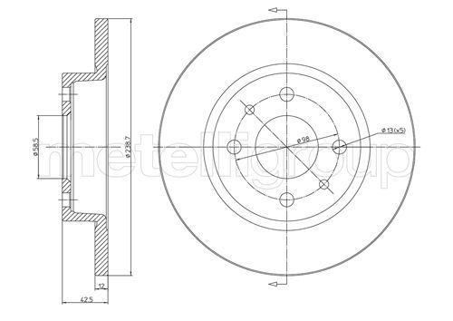CIFAM: Original Tuning 800-205 (Ø: 239,0mm, Lochanzahl: 4, Bremsscheibendicke: 12,0mm)