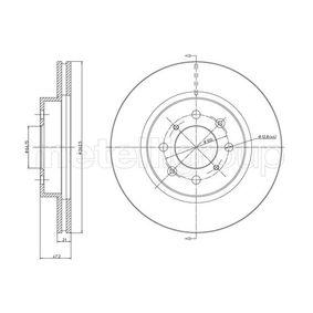 800-235 CIFAM ventilerad Ø: 262,0mm, Hålant.: 4, Bromsskivetjocklek: 21,0mm Bromsskiva 800-235 köp lågt pris