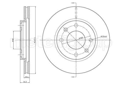 800-238 CIFAM ventilerad Ø: 247,0mm, Hålant.: 4, Bromsskivetjocklek: 20,5mm Bromsskiva 800-238 köp lågt pris