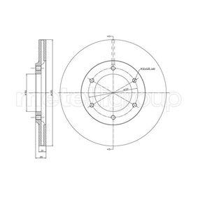 800-247 CIFAM ventilerad Ø: 295,0mm, Hålant.: 6, Bromsskivetjocklek: 20,0mm Bromsskiva 800-247 köp lågt pris