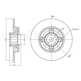 800-827 CIFAM Solid, with wheel bearing Ø: 249,0mm, Num. of holes: 4, Brake Disc Thickness: 9,0mm Brake Disc 800-827 cheap
