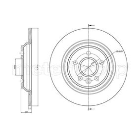 800-992C CIFAM Solid, lackerad Ø: 302,0mm, Hålant.: 5, Bromsskivetjocklek: 11,0mm Bromsskiva 800-992C köp lågt pris