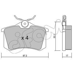 822-100-1 Bremsbelagsatz, Scheibenbremse CIFAM in Original Qualität
