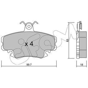 20938 CIFAM für Verschleißwarnanzeiger vorbereitet Dicke/Stärke 1: 18,0mm Bremsbelagsatz, Scheibenbremse 822-120-0 günstig kaufen