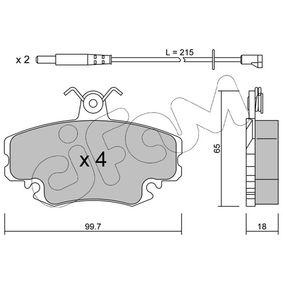 20772 CIFAM inkl. Verschleißwarnkontakt Dicke/Stärke 1: 18,0mm Bremsbelagsatz, Scheibenbremse 822-120-0K günstig kaufen