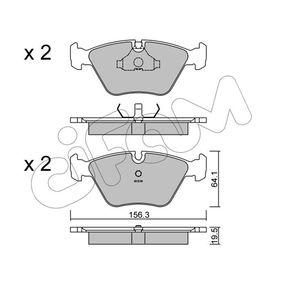D0394 CIFAM für Verschleißwarnanzeiger vorbereitet Dicke/Stärke 1: 19,5mm Bremsbelagsatz, Scheibenbremse 822-122-0 günstig kaufen