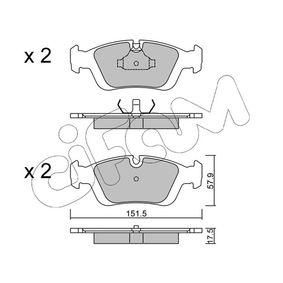 D0558 CIFAM für Verschleißwarnanzeiger vorbereitet Dicke/Stärke 1: 17,5mm Bremsbelagsatz, Scheibenbremse 822-124-0 günstig kaufen