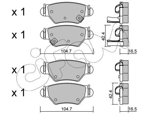 Bremsbelagsatz CIFAM 822-259-0