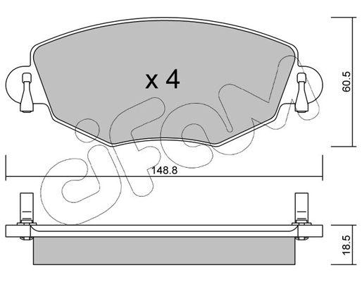 Bremsbelagsatz Scheibenbremse CIFAM 822-318-0