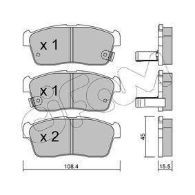 23509 CIFAM mit akustischer Verschleißwarnung Dicke/Stärke 1: 15,5mm Bremsbelagsatz, Scheibenbremse 822-415-0 günstig kaufen