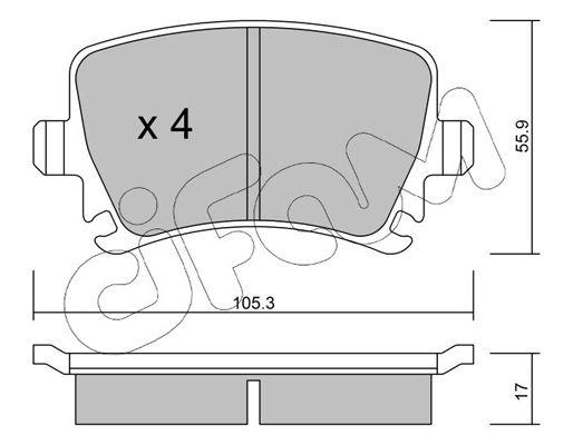 23914 CIFAM für Verschleißwarnanzeiger vorbereitet Dicke/Stärke 1: 17,0mm Bremsbelagsatz, Scheibenbremse 822-553-0 günstig kaufen