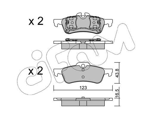 23716 CIFAM für Verschleißwarnanzeiger vorbereitet Dicke/Stärke 1: 16,5mm Bremsbelagsatz, Scheibenbremse 822-556-0 günstig kaufen