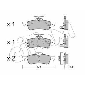 24574 CIFAM mit akustischer Verschleißwarnung Dicke/Stärke 1: 14,5mm Bremsbelagsatz, Scheibenbremse 822-556-1 günstig kaufen