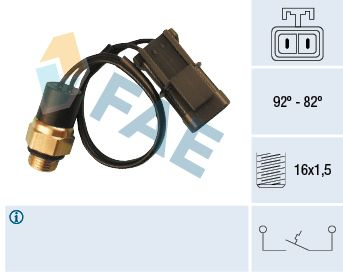 FAE: Original Thermoschalter Lüfter 37540 ()