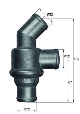 Motor koelsysteem TH 16 80 met een uitzonderlijke MAHLE ORIGINAL prijs-prestatieverhouding