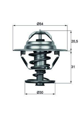 TX 10 88D MAHLE ORIGINAL Thermostat, Kühlmittel für FAP online bestellen