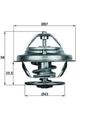 MAHLE ORIGINAL Thermostat, Kühlmittel TX 19 75D