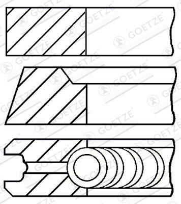 GOETZE ENGINE Piston Ring Kit for BMC - item number: 08-111200-00