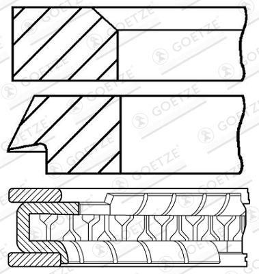 GOETZE ENGINE: Original Kolbenringe 08-133200-10 ()