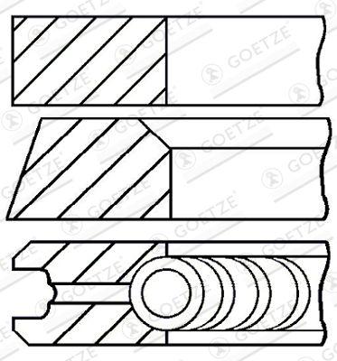 GOETZE ENGINE: Original Kolbenringe 08-433400-00 ()