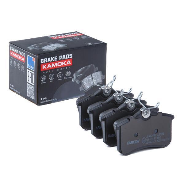 20961 KAMOKA Hinterachse, exkl. Verschleißwarnkontakt, für Verschleißwarnanzeiger vorbereitet, mit Bremssattelschrauben Höhe: 53mm, Breite: 88mm, Dicke/Stärke: 17,5mm Bremsbelagsatz, Scheibenbremse JQ1012166 günstig kaufen