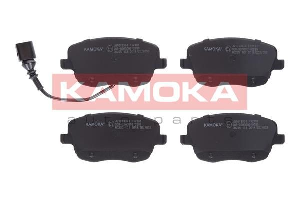23843 KAMOKA inkl. Verschleißwarnkontakt, mit Bremssattelschrauben Höhe: 62mm, Breite: 131mm, Dicke/Stärke: 18,8mm Bremsbelagsatz, Scheibenbremse JQ1013324 günstig kaufen