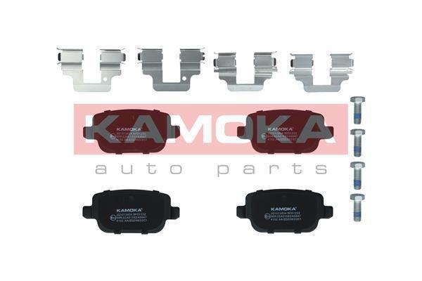 JQ1013834 KAMOKA Hinterachse, exkl. Verschleißwarnkontakt, nicht für Verschleißwarnanzeiger vorbereitet, mit Bremssattelschrauben, mit Zubehör Höhe: 43mm, Breite: 95mm, Dicke/Stärke: 15,8mm Bremsbelagsatz, Scheibenbremse JQ1013834 günstig kaufen