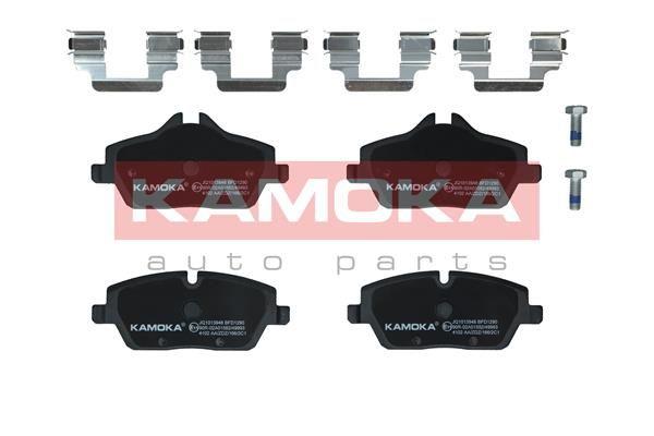 23916 KAMOKA Vorderachse, exkl. Verschleißwarnkontakt, für Verschleißwarnanzeiger vorbereitet, mit Bremssattelschrauben, mit Zubehör Höhe 1: 53mm, Höhe 2: 65mm, Breite: 132mm, Dicke/Stärke: 17,6mm Bremsbelagsatz, Scheibenbremse JQ1013948 günstig kaufen