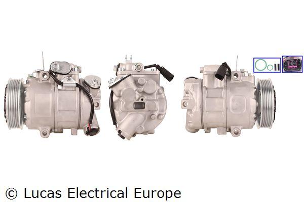 Klimakompressor Polo 9n 2007 - LUCAS ELECTRICAL ACP630 (Riemenscheiben-Ø: 110mm)